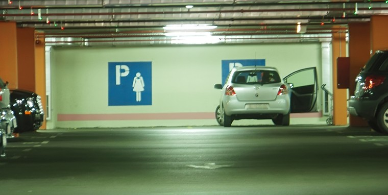 Parking spaces reserved for women
