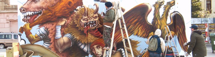 Graffiti painting: Garage Rijeka Gallery Project